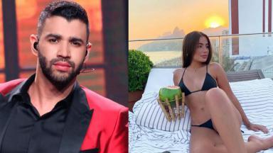 Gusttavo Lima e Camila Landim em foto montagem