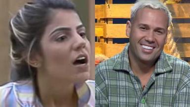 Hariany Almeida e Viny Vieira durante o reality show A Fazenda 2019