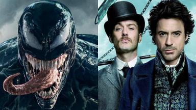 Montagem com Venom e Sherlock Holmes, produções da HBO go