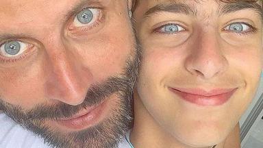 Henri Castelli e o filho Lucas