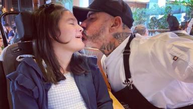 Henrique Fogaça com a filha