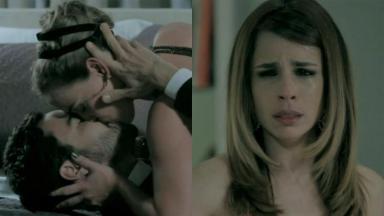 Caio Blat, Adriana Birolli e Maria Ribeiro em cena da novela Império, em reprise na Globo