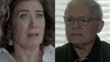 Lilia Cabral e Othon Bastos como Maria Marta e Silviano em cena da novela Império, em reprise na Globo