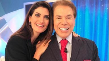 Isabella Fiorentino e Silvio Santos