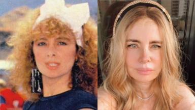 À esquerda, Isis de Oliveira como Rosaly na novela Roque Santeiro; à direita, a atriz aos 70 anos posa para foto no Instagram