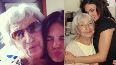 Isis Valverde e sua avó