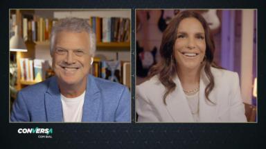 Pedro Bial entrevista Ivete Sangalo no programa Conversa com Bial, da Globo