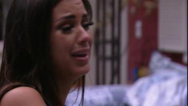 Ivy chora durante o reality show BBB20
