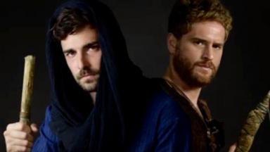 Miguel Coelho e Cirillo Luna caracterizados como Jacó e Esaú
