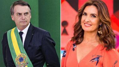 Jair Bolsonaro e Fátima Bernardes em montagem do NaTelinha