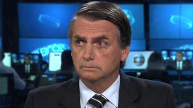 Bolsonaro durante debate na Globo