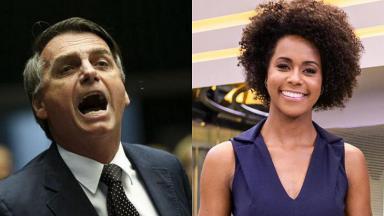 Jair Bolsonaro e Maju Coutinho