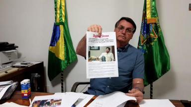 O presidente Jair Bolsonaro rebate acusação de Danilo Gentili