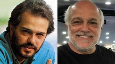 À direita, o ator Jayme Periard na década de 1980; à direita, em 2020, aos 59 anos