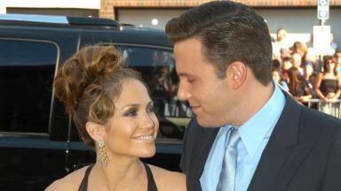 Jennifer Lopez e Ben Affleck quando estavam noivos