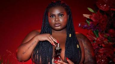Jojo Todynho em campanha de perfume