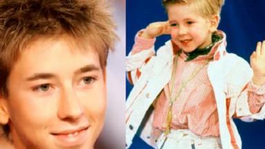 Jordy na juventude e na infância em foto montagem