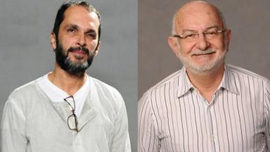 José Luiz Villamarim e Silvio de Abreu em foto montagem