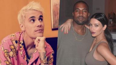 Justin Bieber, Kanye West e Kim Kardashian