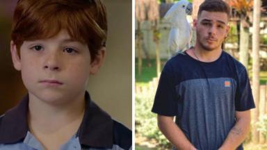 Kaic Crescente antes e depois
