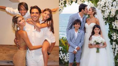 O ex-jogador se casou há menos de dois meses com a modelo