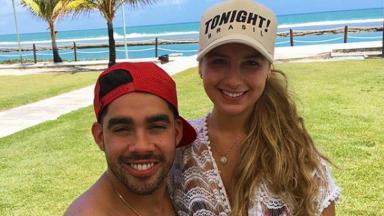 Gabriel Diniz, falecido em 2019, com Karoline Calheiros