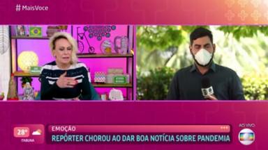 Kléber Teixeira e Ana Maria Braga no Mais Você