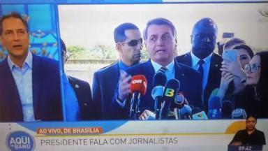 Lacombe e Bolsonaro no Aqui na Band