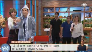 Luís Ernesto Lacombe chorando no ar
