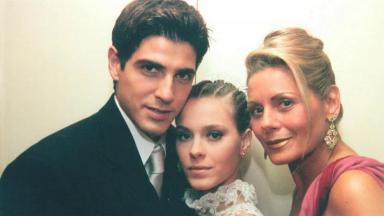 Reynaldo Gianecchini, Carolina Dieckmann e Vera Fischer em Laços de Família