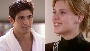 Reynaldo Gianecchini e Carolina Dieckmann em cena de Laços de Família, em reprise na Globo