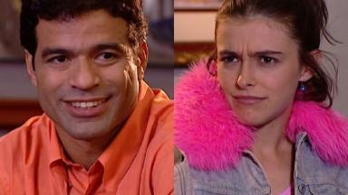 Raí e Julia Feldens em cena da novela Laços de Família, em reprise na Globo