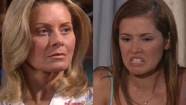 Vera Fischer e Deborah Secco em cena da novela Laços de Família, em reprise na Globo