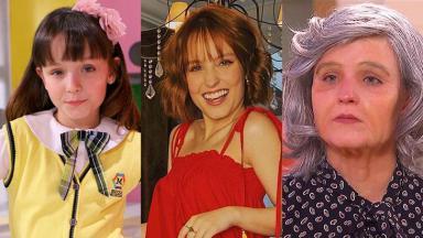 """Larissa Manoela em 2012, atualmente e com """"66 anos"""" no programa Eliana"""