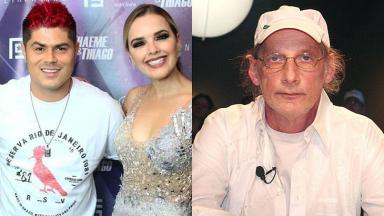 Leandro Lopes e Thaeme Mariôto, campeões do Ídolos, e Arnaldo Saccomani