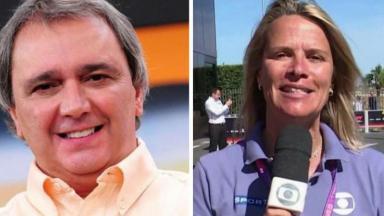 Reginaldo Leme e Mariana Becker