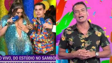 Simony, Dudu Camargo e Leo Dias no Carnaval da RedeTV