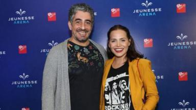 Letícia Colin e marido