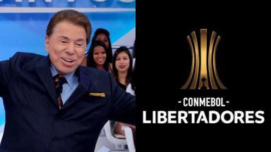 Silvio Santos e o logo da Libertadores