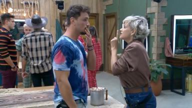 Lucas Viana comemorou saída de Andréa Nóbrega do reality show A Fazenda 2019