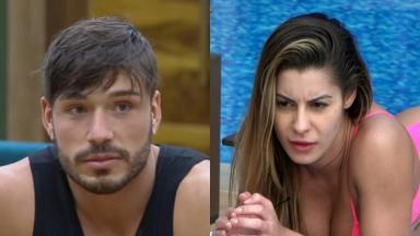 Lucas Viana se estressou com Aricia Silva no reality show A Fazenda 11