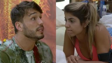 Hariany desabafou e revelou medo que tem no relacionamento com Lucas no reality show A Fazenda 2019