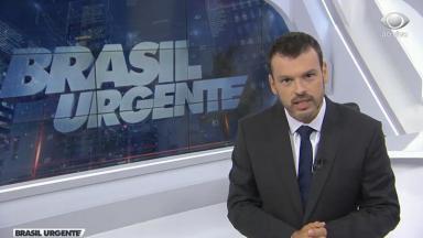 O repórter Lucas Martins, substituto de José Luiz Datena no Brasil Urgente