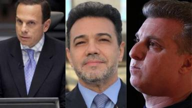João Dória, Marco Feliciano e Luciano Huck