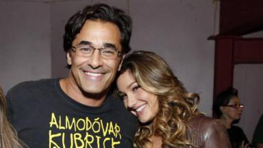 Luciano Szafir e Sasha sorrindo
