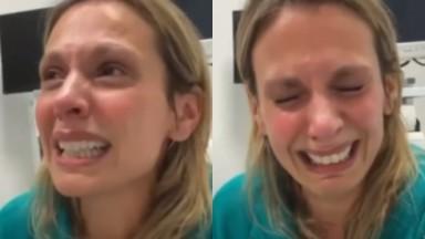 Luisa Mell chorando durante desabafo