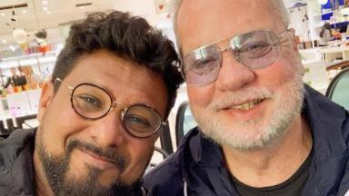 Luiz Fernando Guimarães e o marido