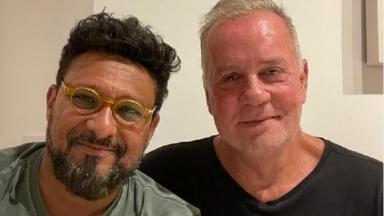 Adriano Medeiros e Luiz Fernando Guimarães