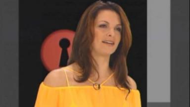 Luiza Ambiel em chamada da Casa dos Artistas 3, exibida em 2002