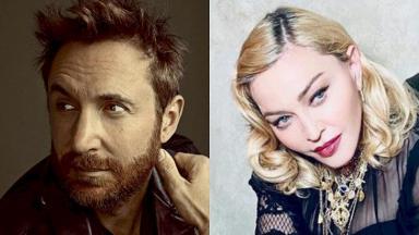 Foto montagem de Madonna e David Guetta